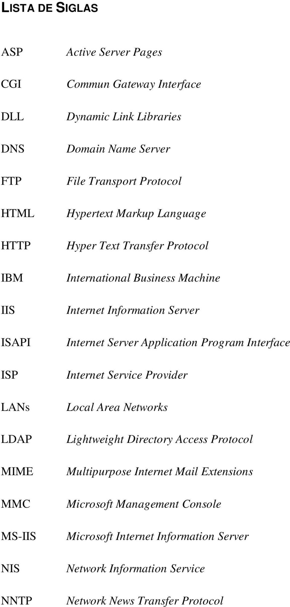 Information Server Internet Server Application Program Interface Internet Service Provider Local Area Networks Lightweight Directory Access Protocol