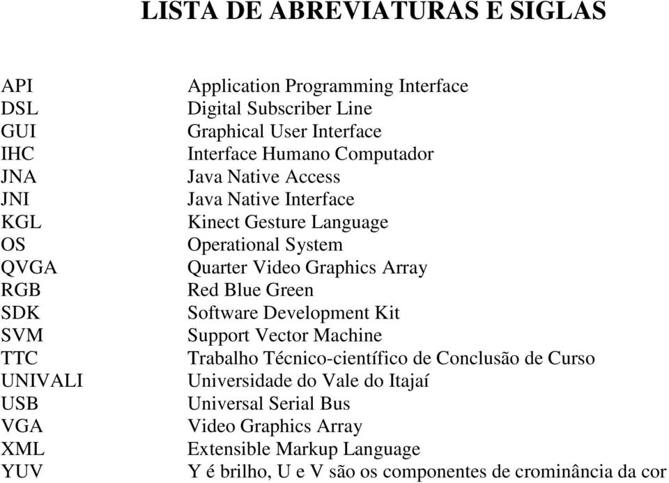 System Quarter Video Graphics Array Red Blue Green Software Development Kit Support Vector Machine Trabalho Técnico-científico de Conclusão de Curso