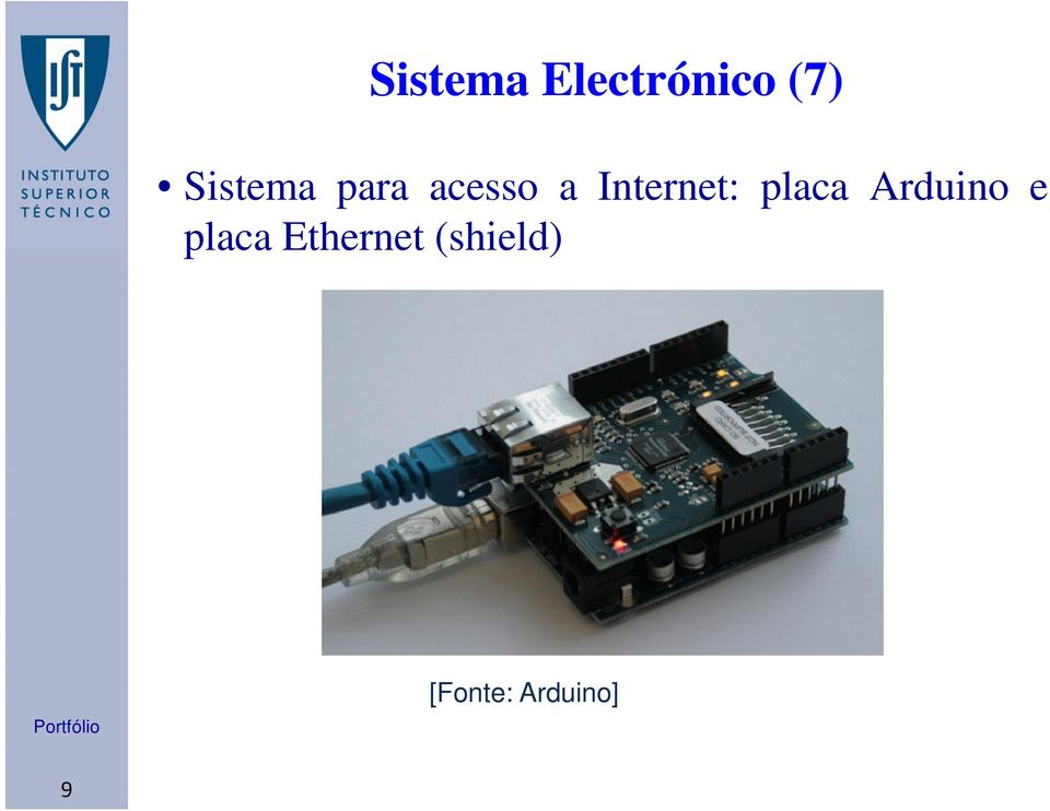 Internet: placa Arduino e