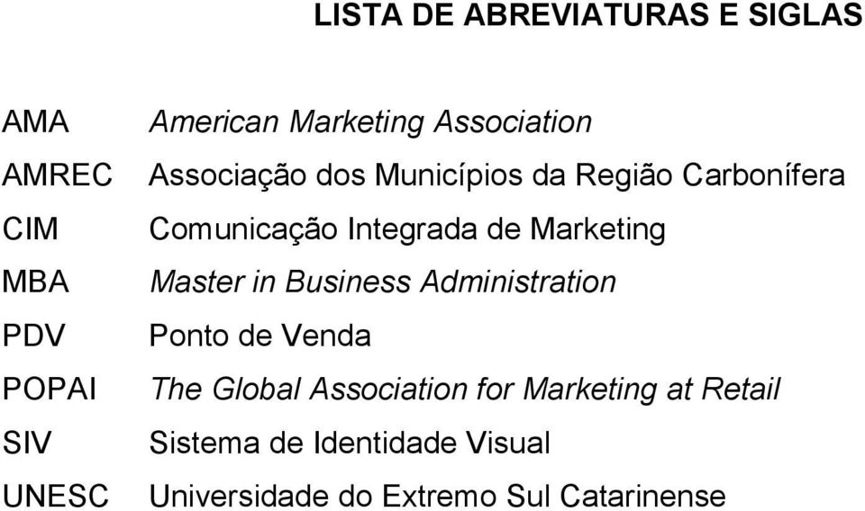 Integrada de Marketing Master in Business Administration Ponto de Venda The Global