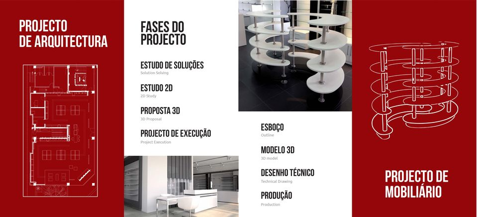 projecto de execução Project Execution ESBOÇO Outline MODELO 3d 3D