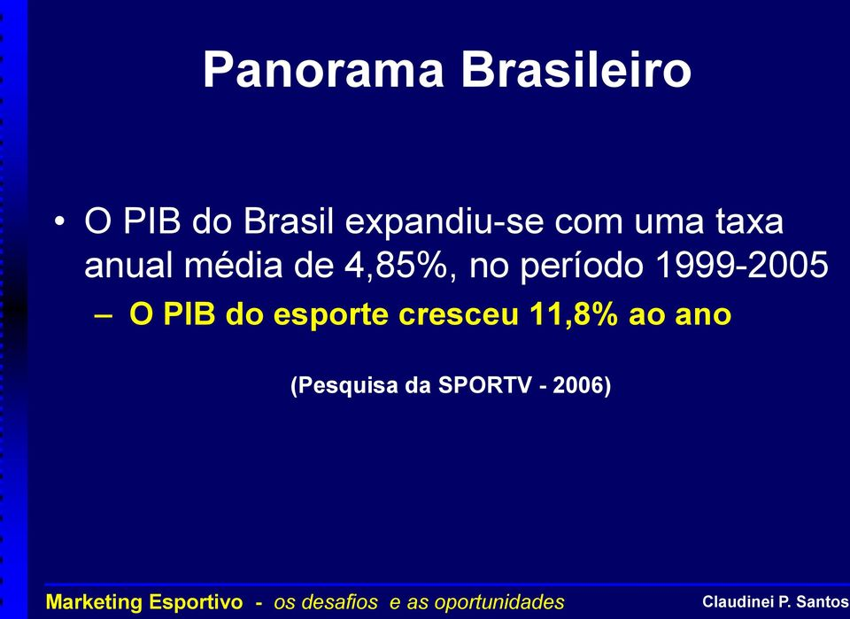 4,85%, no período 1999-2005 O PIB do