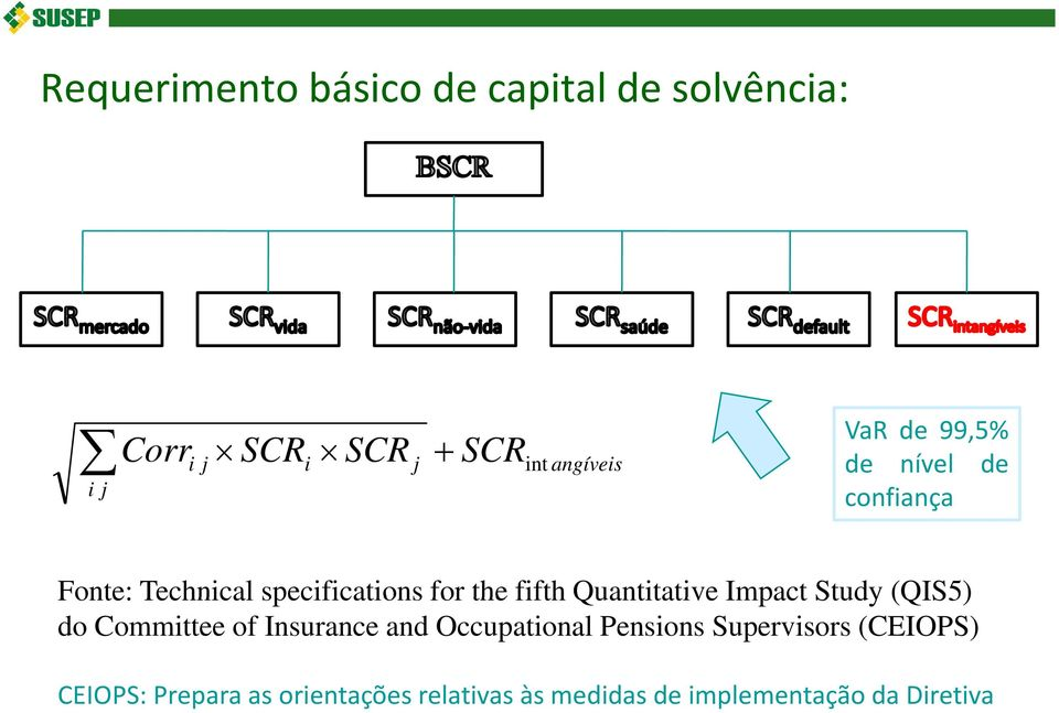 Quantitative Impact Study (QIS5) do Committee of Insurance and Occupational Pensions