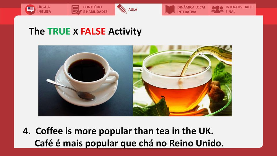 tea in the UK.