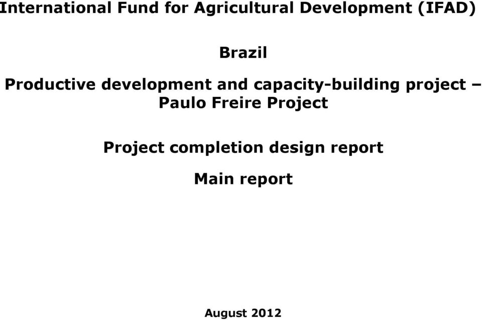 capacity-building project Paulo Freire Project