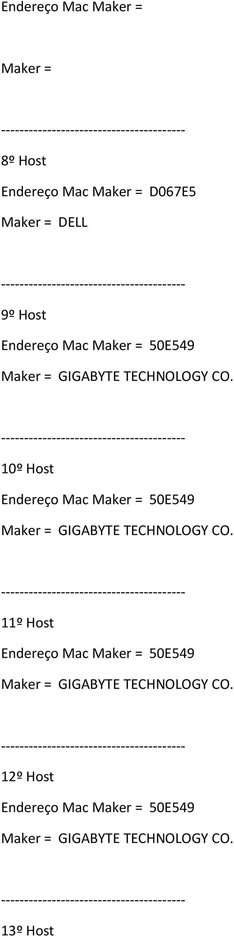 D067E5 Maker = DELL 9º Host