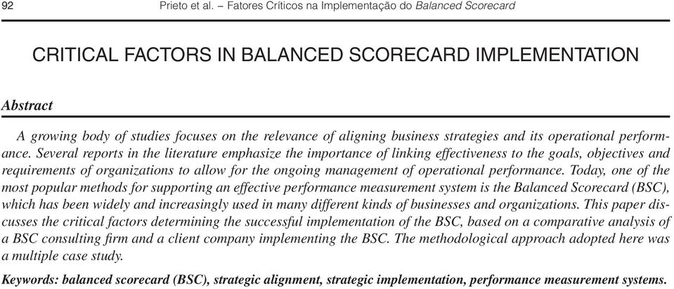 strategies and its operational performance.