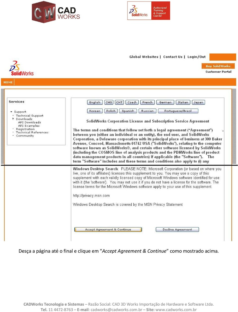 Accept Agreement &