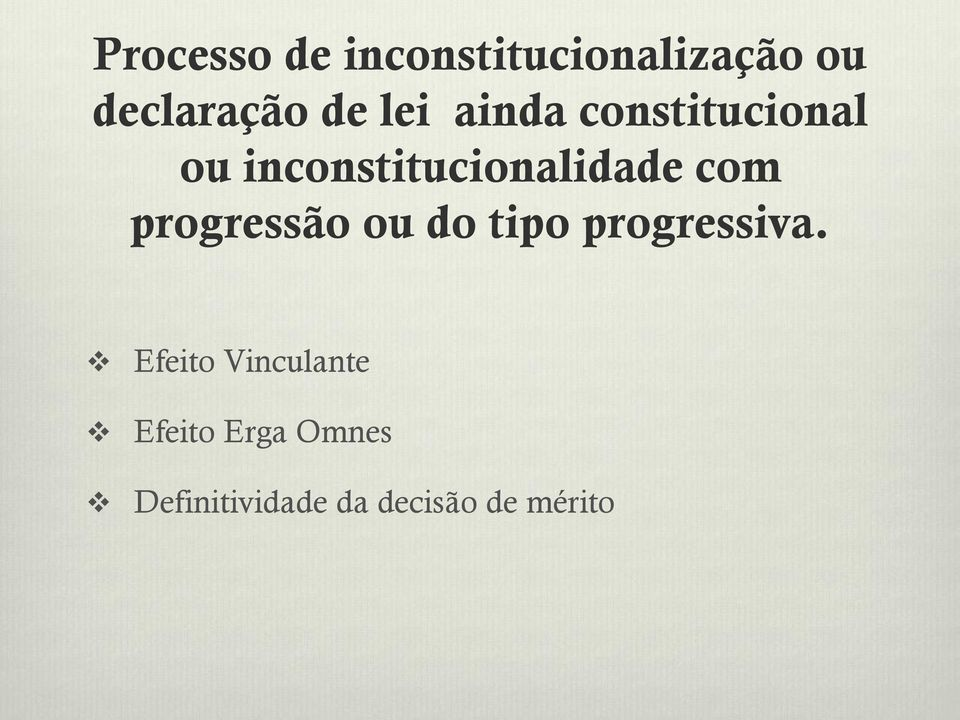 com progressão ou do tipo progressiva.