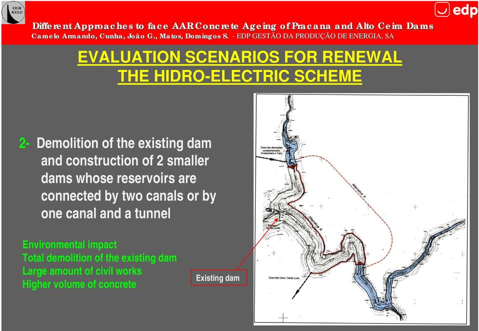 two canals or by one canal and a tunnel Environmental impact Total demolition of