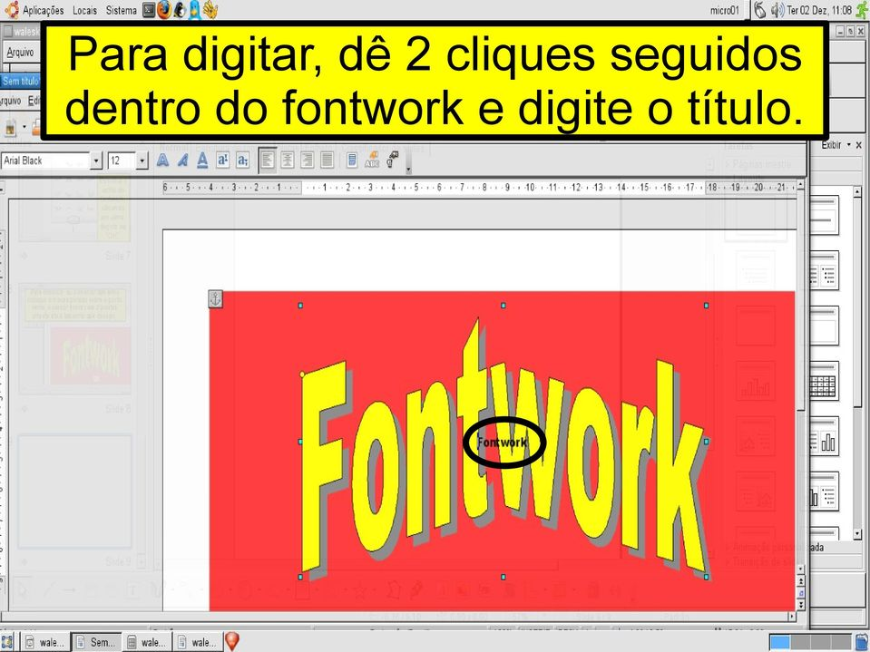 dentro do fontwork