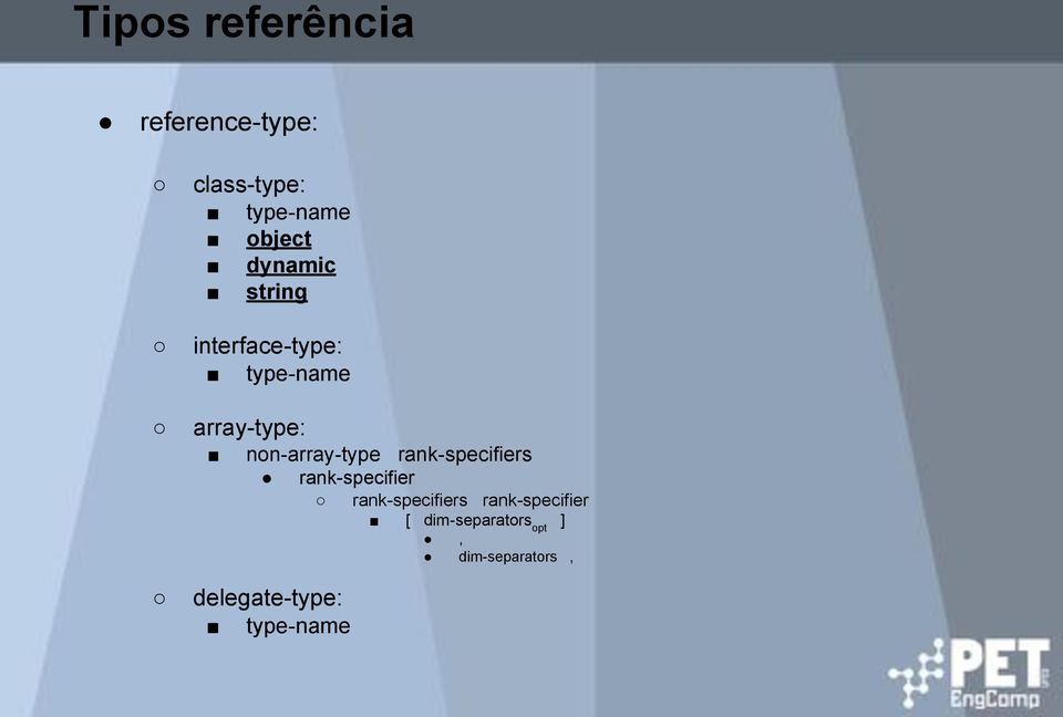 non-array-type rank-specifiers delegate-type: type-name
