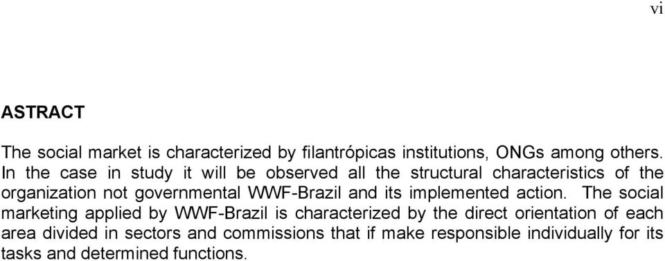 WWF-Brazil and its implemented action.