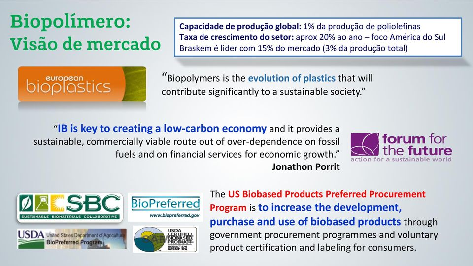IB is key to creating a low-carbon economy and it provides a sustainable, commercially viable route out of over-dependence on fossil fuels and on financial services for economic growth.