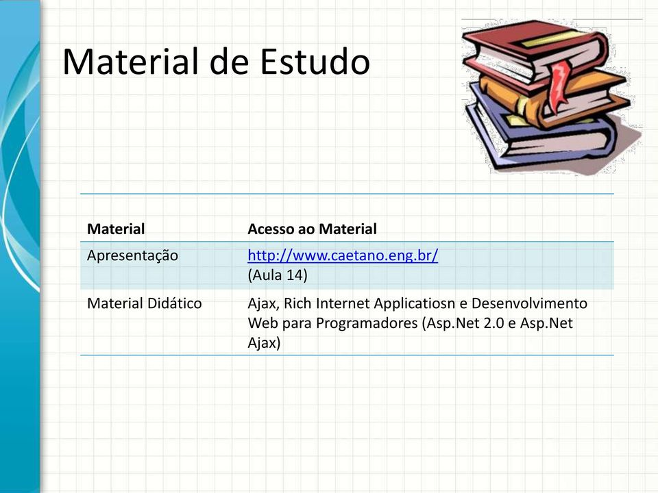 br/ (Aula 14) Ajax, Rich Internet Applicatiosn e