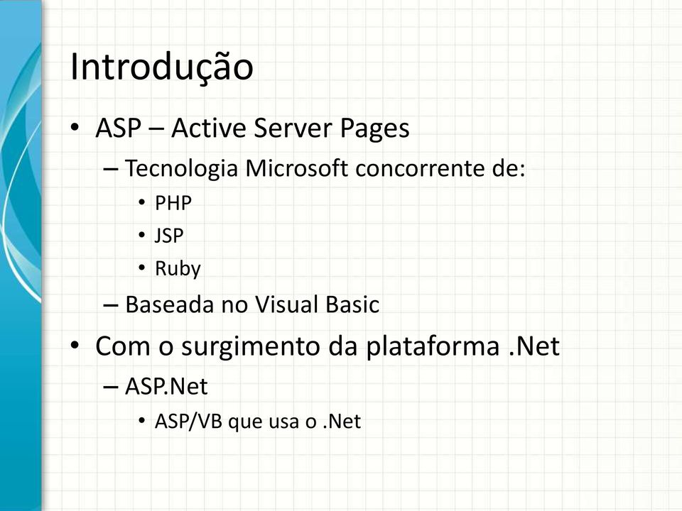 JSP Ruby Baseada no Visual Basic Com o