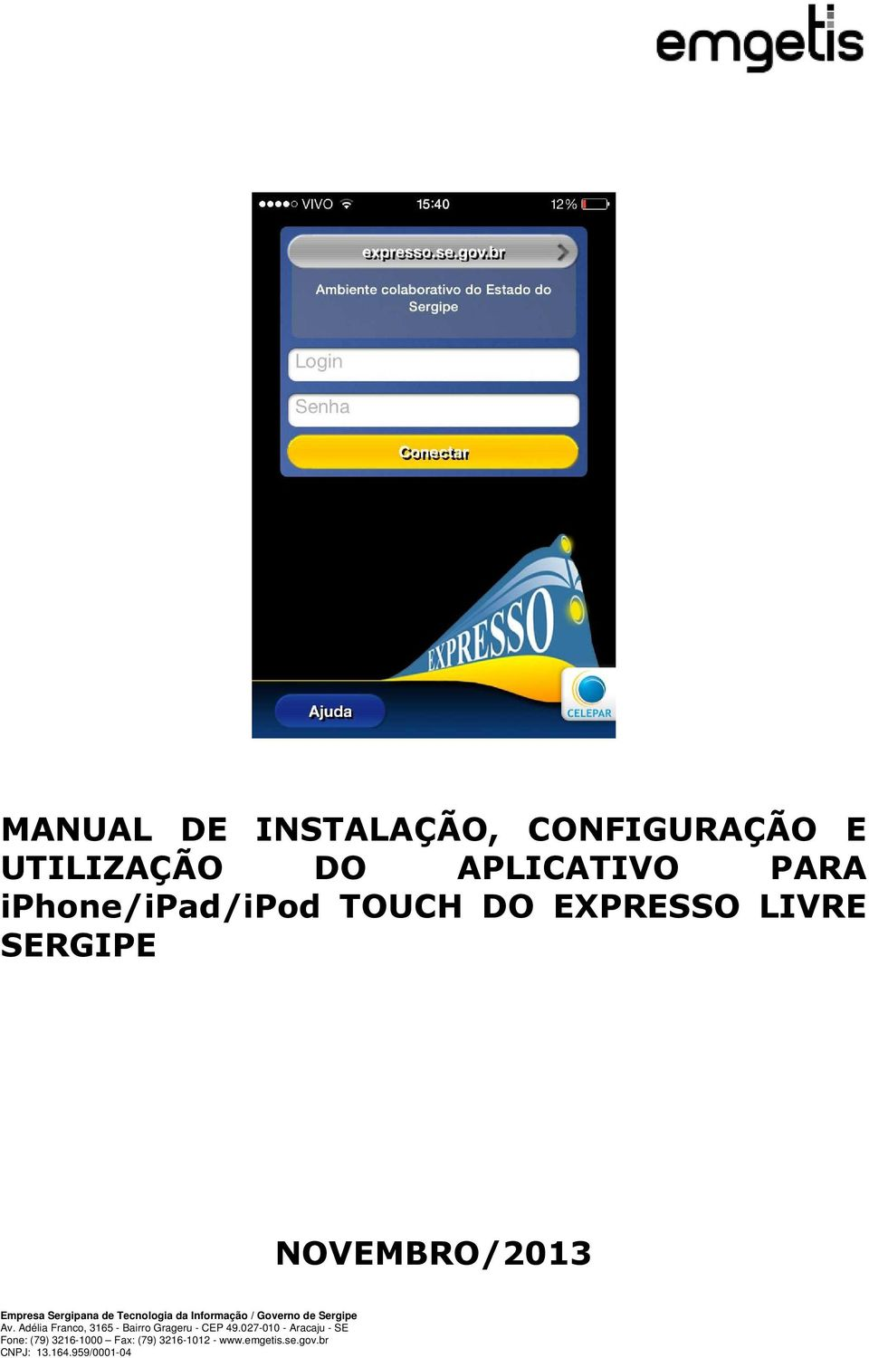 APLICATIVO PARA iphone/ipad/ipod