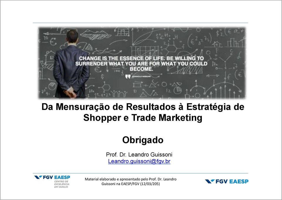 Marketing Obrigado Prof. Dr.