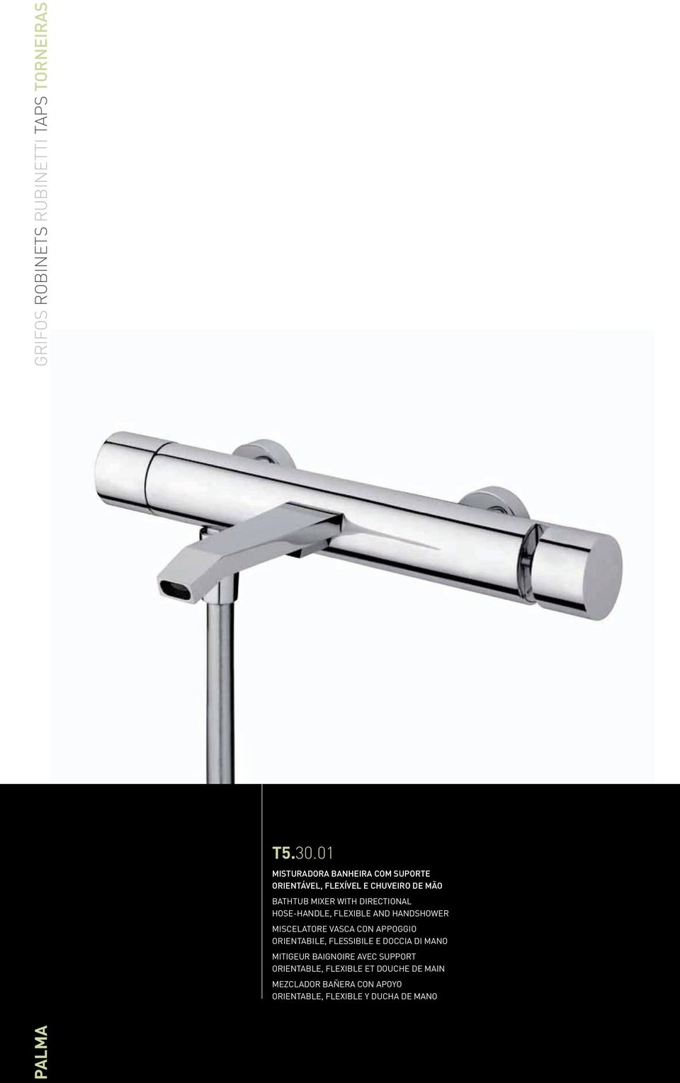 DIRECTIONAL HOSE-HANDLE, FLEXIBLE AND HANDSHOWER MISCELATORE VASCA CON APPOGGIO ORIENTABILE,