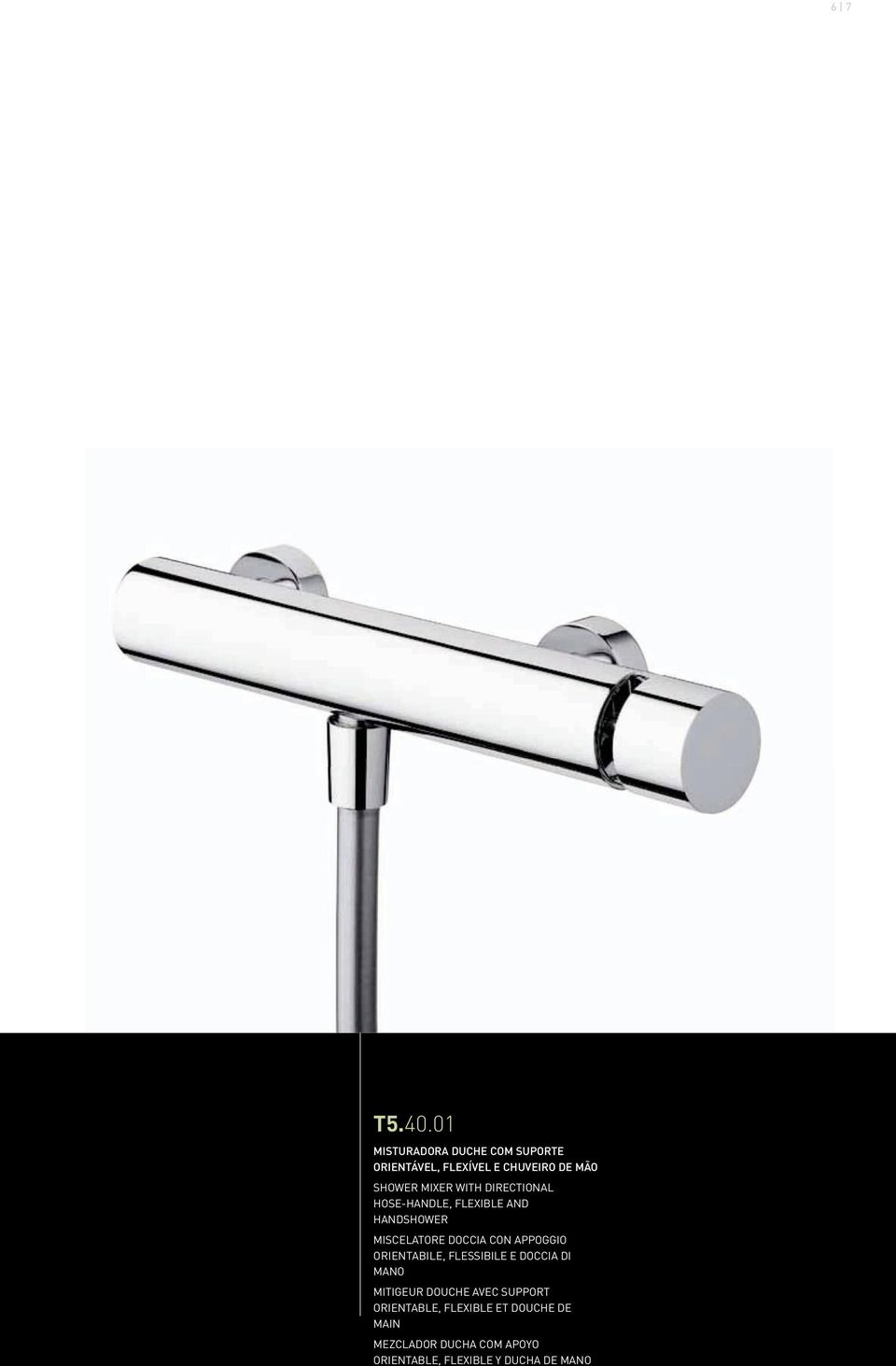 WITH DIRECTIONAL HOSE-HANDLE, FLEXIBLE AND HANDSHOWER MISCELATORE DOCCIA CON APPOGGIO