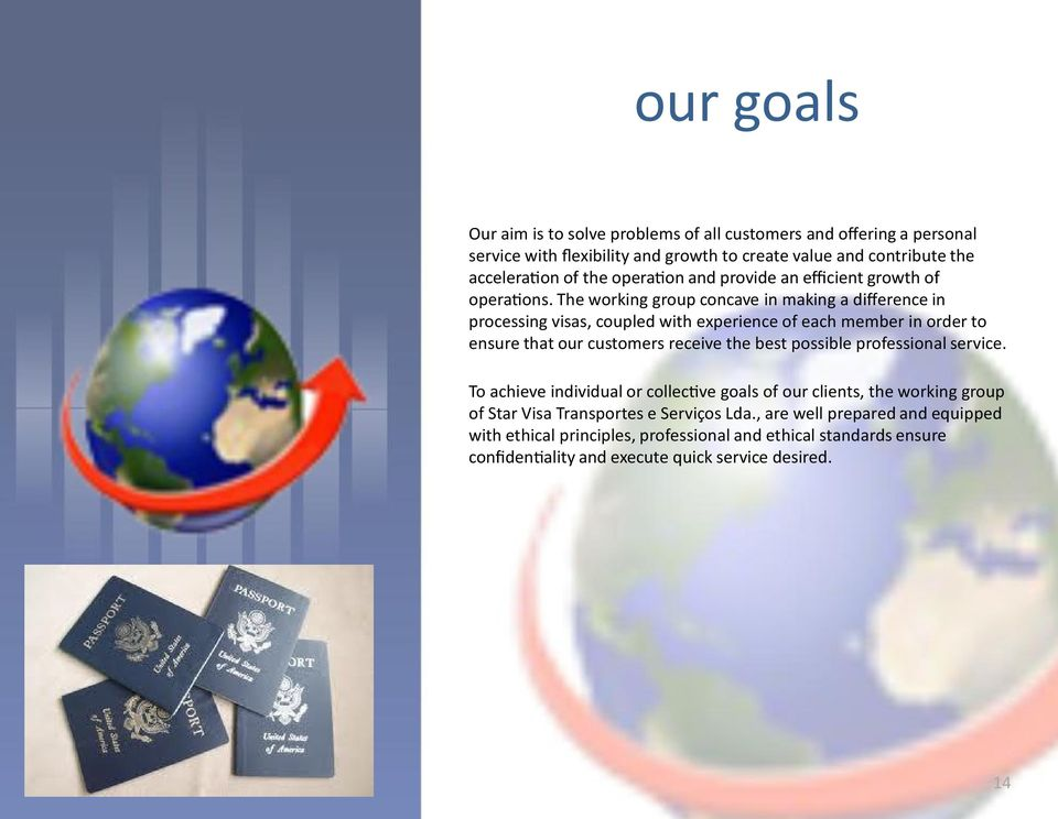 The working group concave in making a difference in processing visas, coupled with experience of each member in order to ensure that our customers receive the best