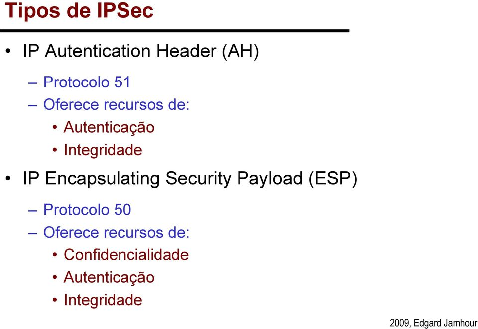 Encapsulating Security Payload (ESP) Protocolo 50