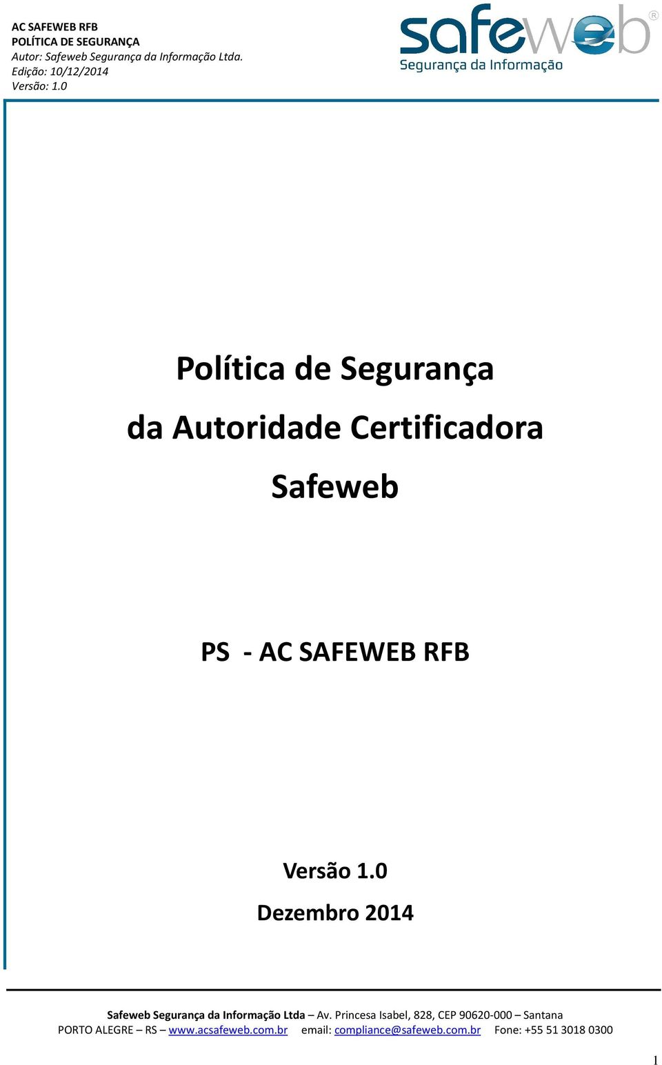 Safeweb PS - AC SAFEWEB