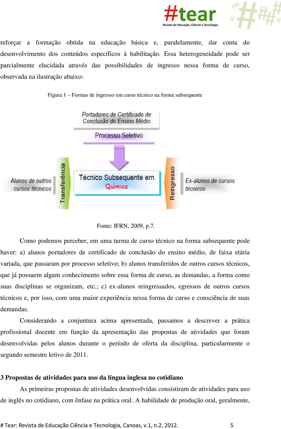 subsequente Fonte: IFRN, 2009, p.7.