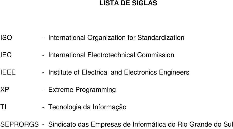 Electrical and Electronics Engineers - Extreme Programming - Tecnologia da