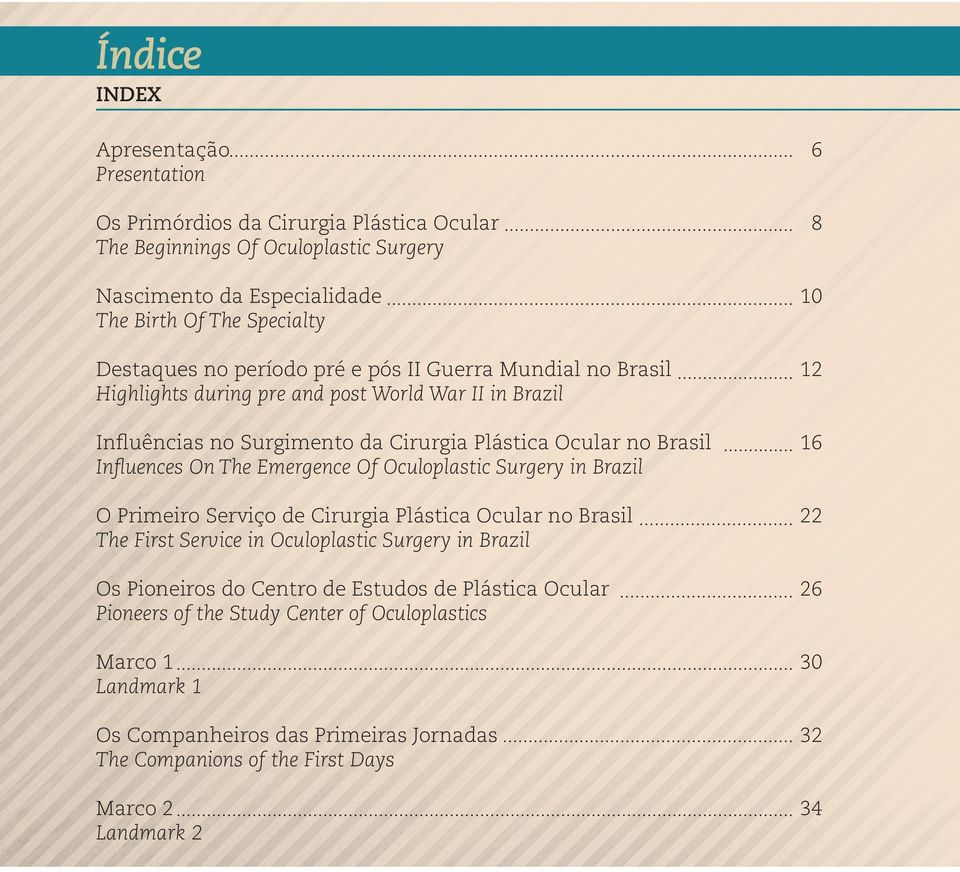 Influences On The Emergence Of Oculoplastic Surgery in Brazil O Primeiro Serviço de Cirurgia Plástica Ocular no Brasil 22 The First Service in Oculoplastic Surgery in Brazil Os Pioneiros do