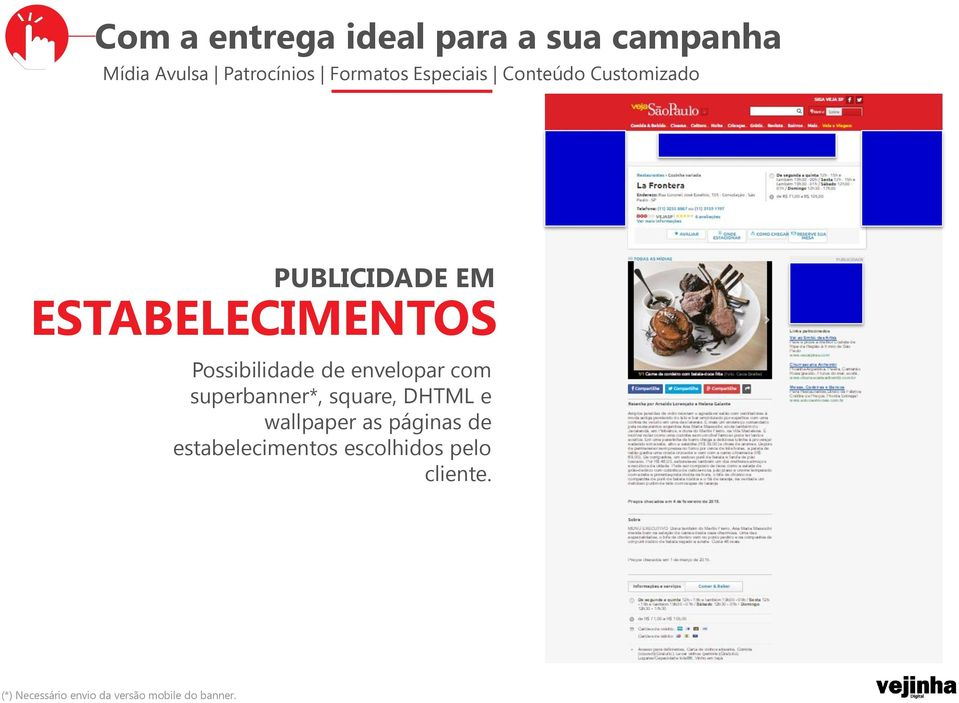 de envelopar com superbanner*, square, DHTML e wallpaper as páginas de