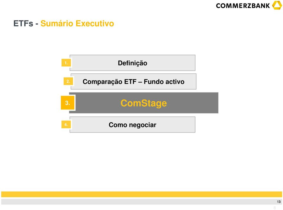 ETF Fundo activo ComStage