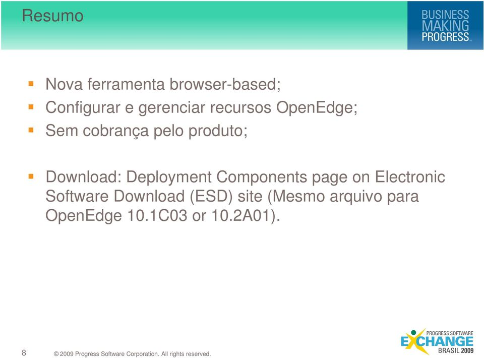Download: Deployment Components page on Electronic Software