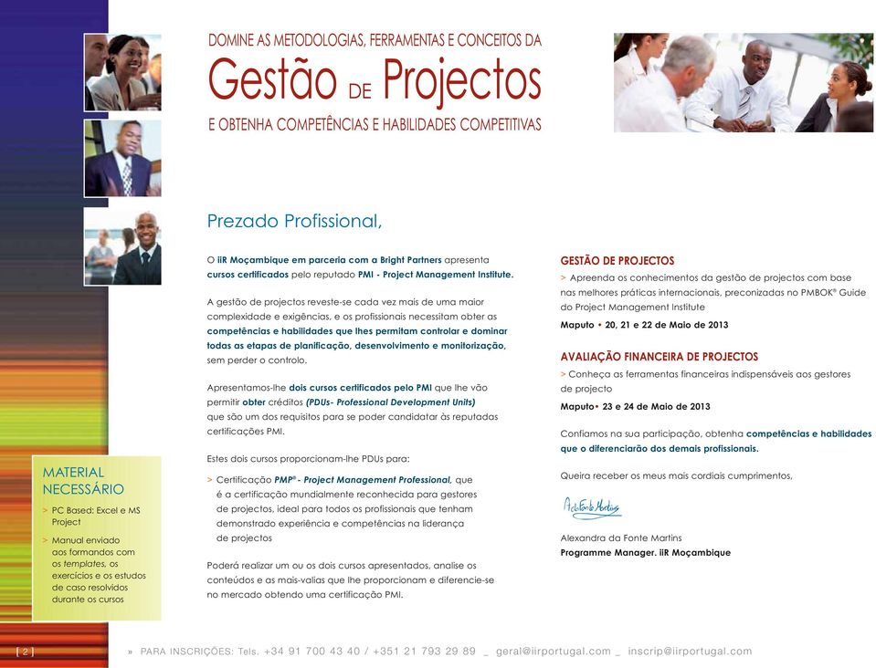 reputado PMI - Project Management Institute.