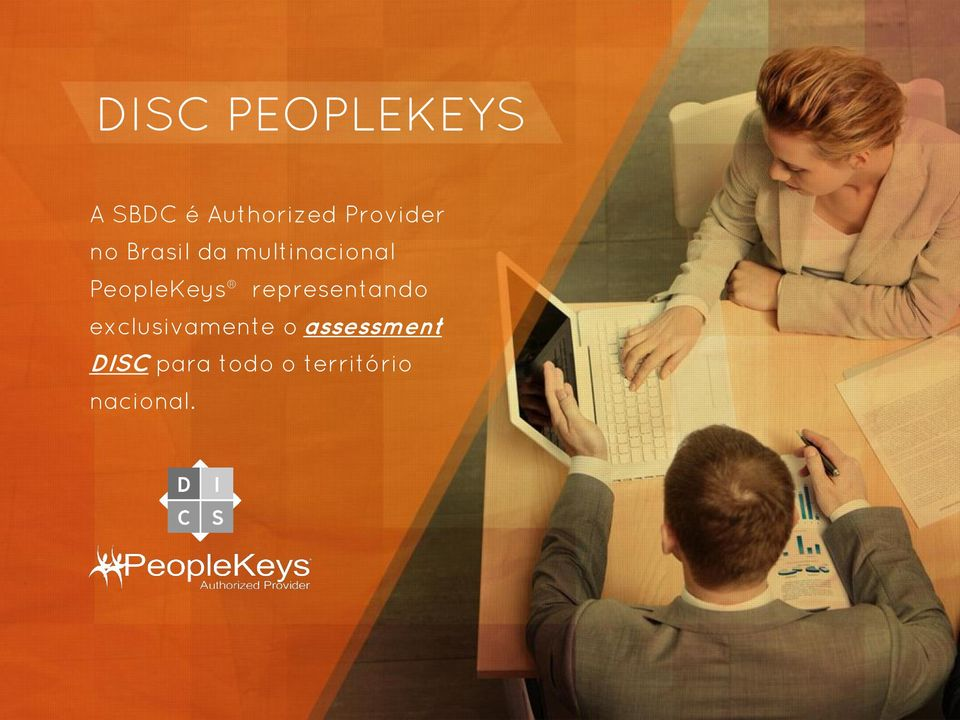 PeopleKeys representando exclusivamente