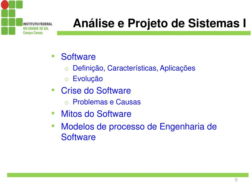 Crise do Software o Problemas e Causas Mitos do