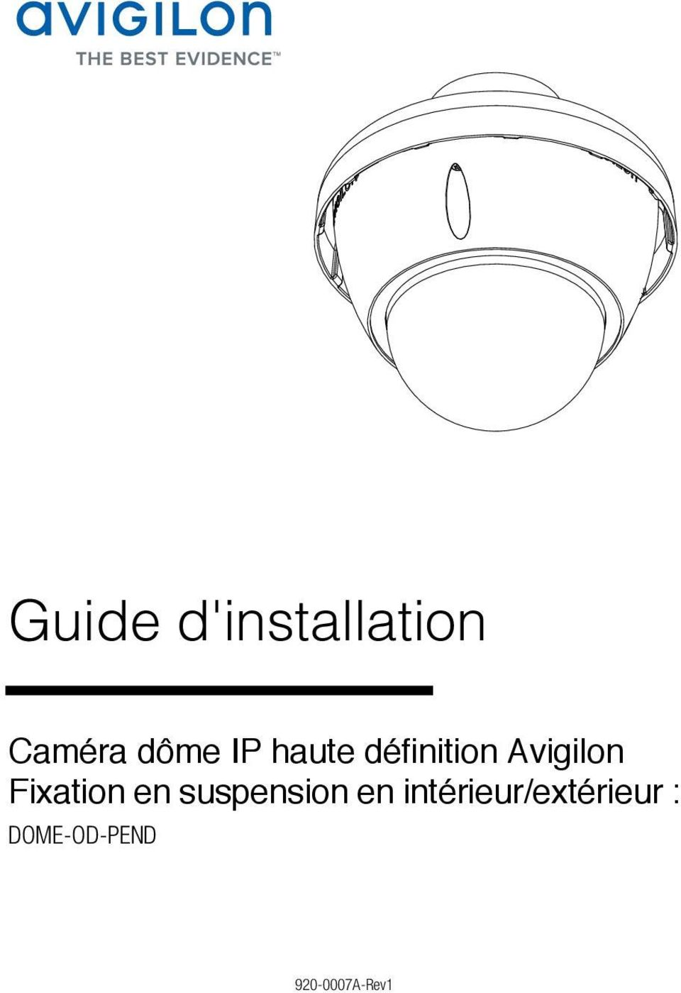 Fixation en suspension en