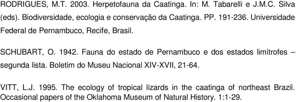 Occasional Papers Of The Oklahoma Museum Of Natural History