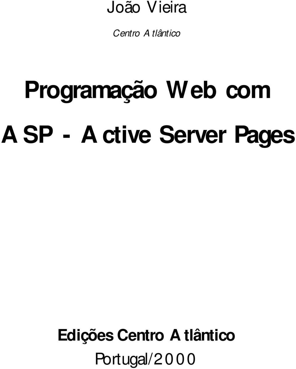 Active Server Pages Edições