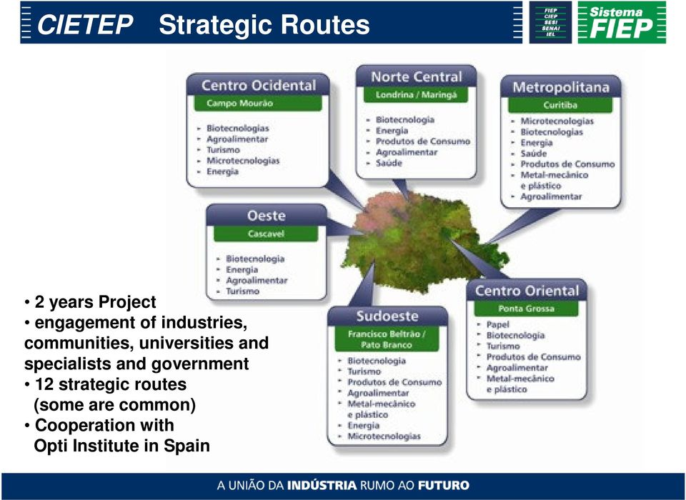 specialists and government 12 strategic routes