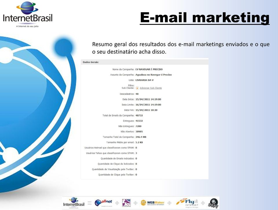 e-mail marketings enviados e