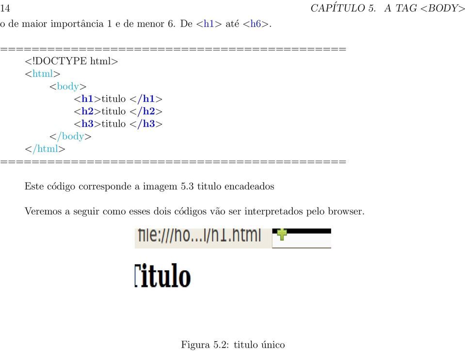 DOCTYPE html> <html> <body> <h1>titulo </h1> <h2>titulo </h2> <h3>titulo </h3>