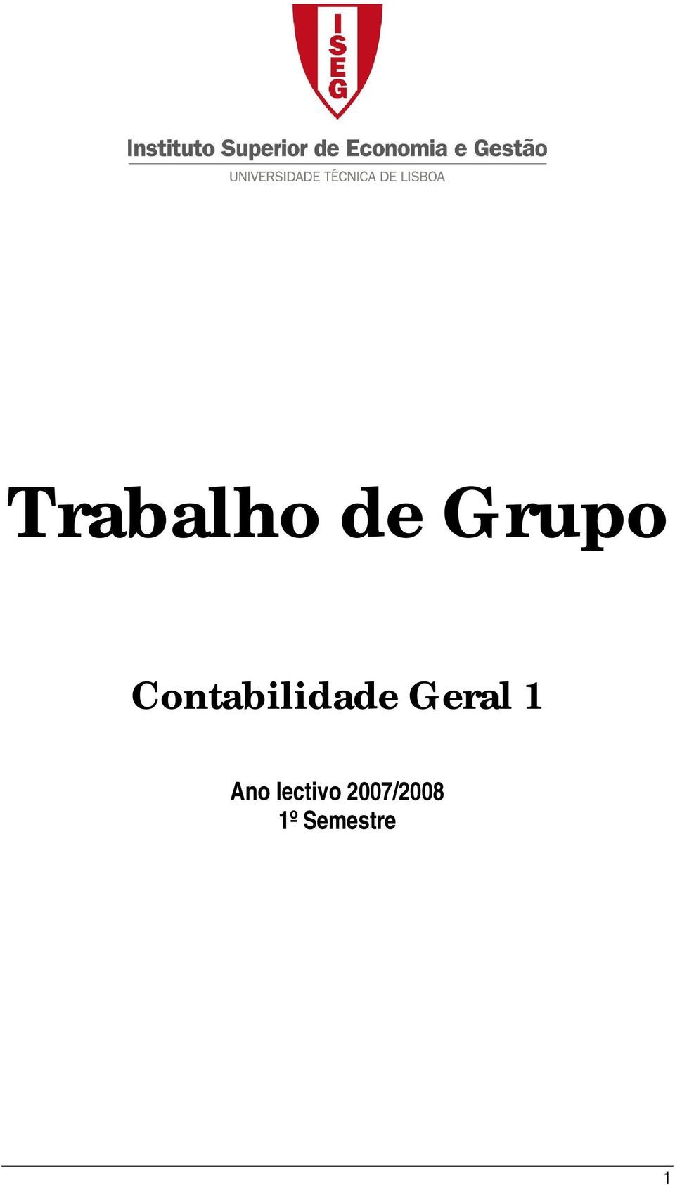 Geral 1 Ano