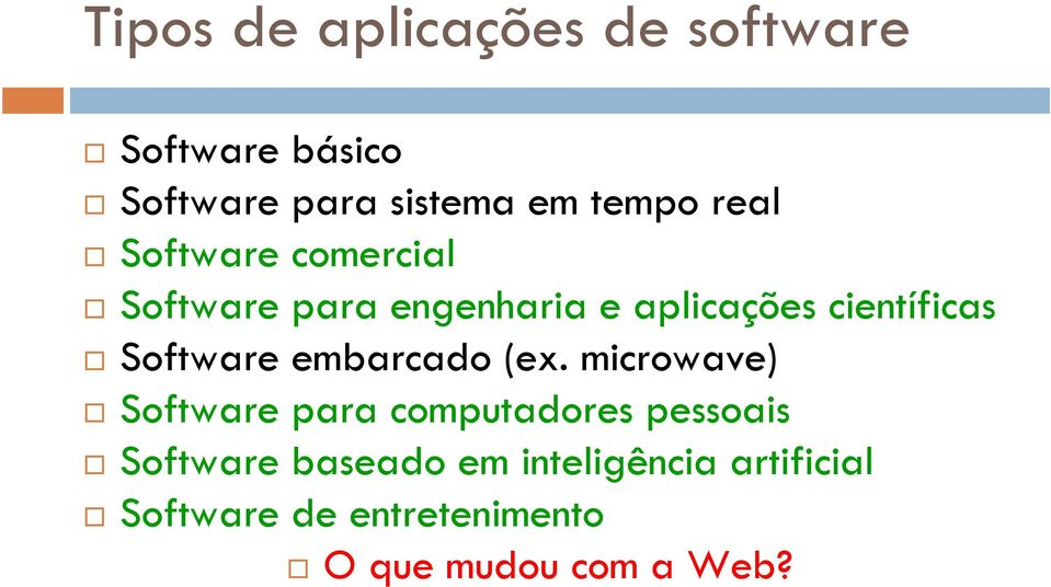 Software embarcado (ex.