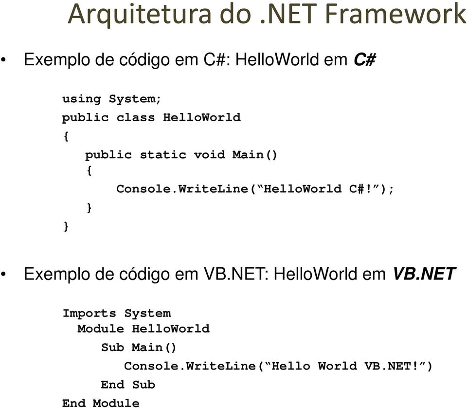 HelloWorld { } public static void Main() { } Console.WriteLine( HelloWorld C#!