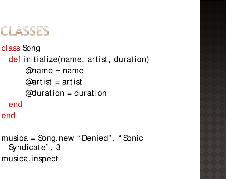 @duration = duration musica = Song.