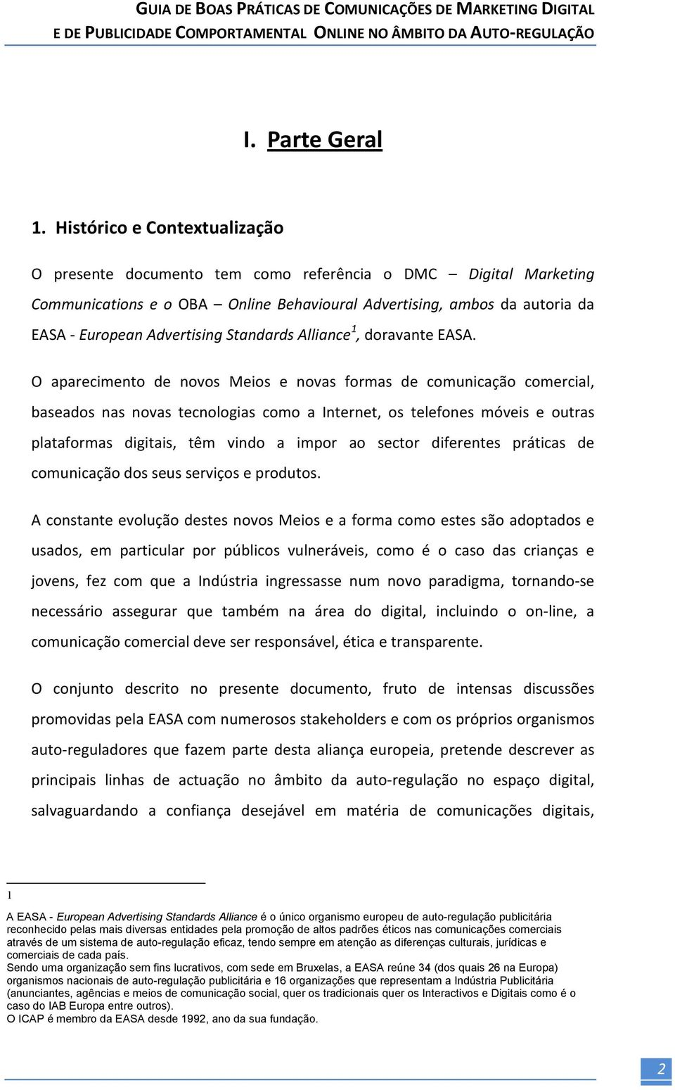 Standards Alliance 1, doravante EASA.