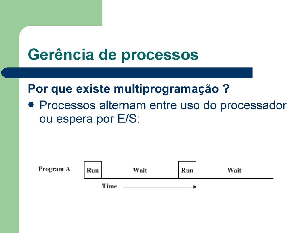Processos alternam