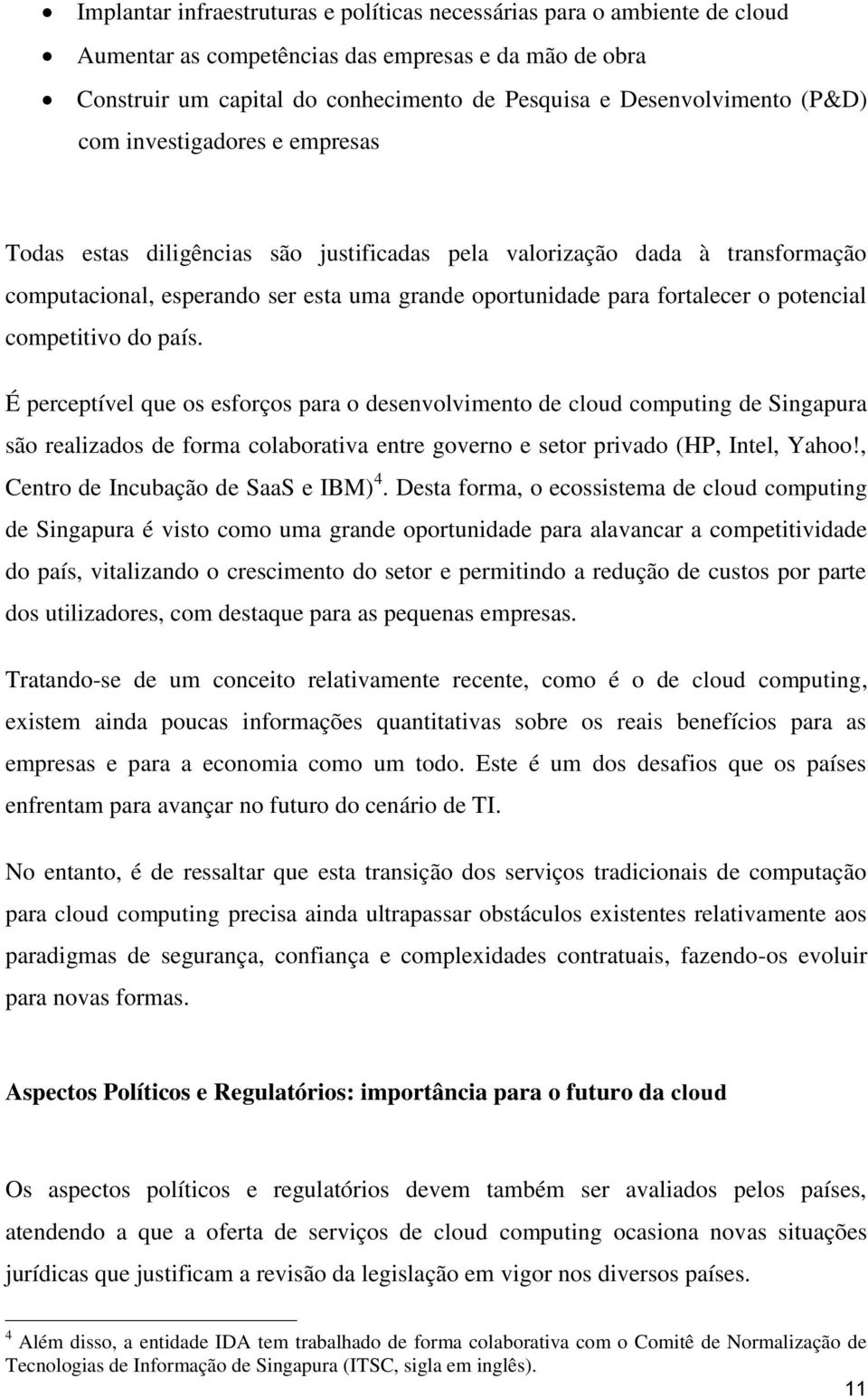 potencial competitivo do país.