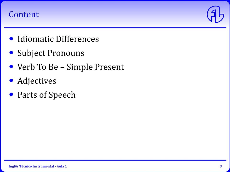 Present Adjectives Parts of Speech